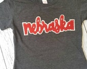 Nebraska, shirt, husker, Cornhuskers, Nebraska girl, baby tank dress