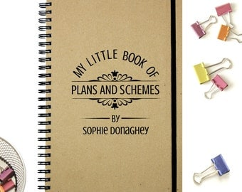 Personalised Notebook|Gift Notebook|Plans & Schemes|Spiral Journal