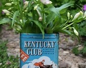 Antique Kentucky Club Pipe Cigarette and Tobacco Tin Box Great Collectable Storage and Home Decor -