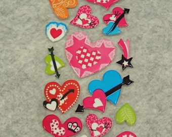 Mixed Heart Stickers
