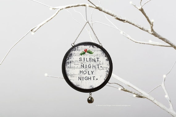 Silent Night Ornament Christmas Wall Hanging Christmas