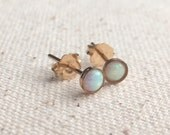 4mm opal 14k gold filled stud earrings / FREE gift wrapping