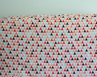 Gold Mint Coral Triangle Crib Sheet- Ready to be Shipped