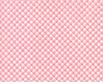 Fleurs - Pinstripe Gingham in Peony by Brenda Riddle for Moda Fabrics