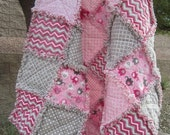 Cuddles Rag Quilt.....Little Girl/Toddler Size........Flannel....Reversible.....Ready to Ship