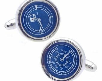 Fuel Gauge and Speed Meter Cufflinks