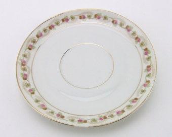 "M Z Austria Clover Blossom Porcelain 5"" Saucer  Moritz Zdekauer"