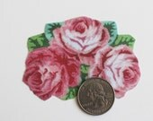 Miniature Bouquet of Roses Rug in One Twelfth Scale