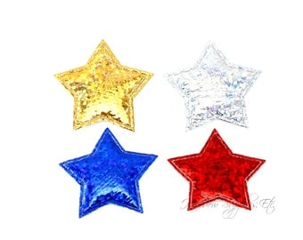 Stars Padded Applique 1 inch - July 4th Stars - Choose your color - Hairbow Supplies, Etc.