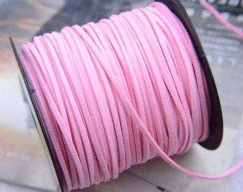 10 yards Pink Faux Suede Cord / Jewelry Accessories 2.5x1mm