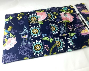 Travel Jewelry Roll Jewelry Organizer Case - Lulabelle Main in Blue