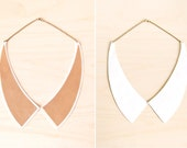 Alexa -- Reversible Leather Peter Pan COLLAR Necklace - Gift for Her