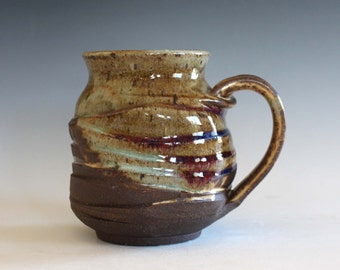 Twisted Mug, 16 oz, handmade ceramic cup, handthrown mug, stoneware mug, pottery mug, unique coffee mug, ceramics and pottery