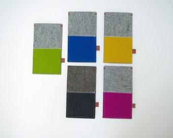 FAIRPHONE FELT SLEEVE - case in 2 colors wool - custom colours. Also for Fairphone 2!