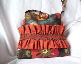 Shoulder Bag with Ruffle