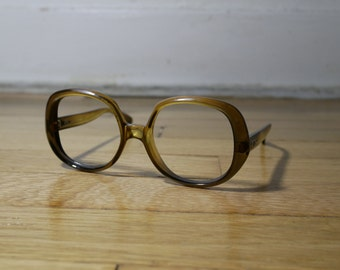 70s Christian Dior womens big frame circle eyeglasses