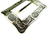 Vintage belt buckle ant gold tone
