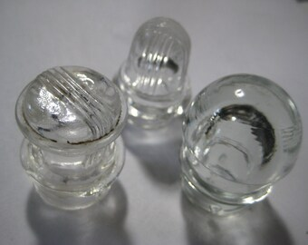 Vintage Coffee Percolator Lid Glass Knobs, Old Percolator Replacement Parts, 3 pcs. Standard Size.