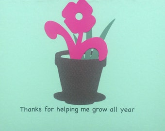 Teacher year end thank you