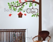 Wall Decals Nursery - Nursery wall decal. Corner Tree Wall Decal. Girl Wall Decal Tree. Nursery Decals - Tree Girl