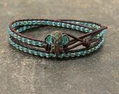 Bohemian Elephant Jewelry  Turquoise Elephant Bracelet