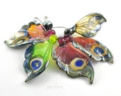 5 Butterfly Wing Beads Sampler Set : Lampwork