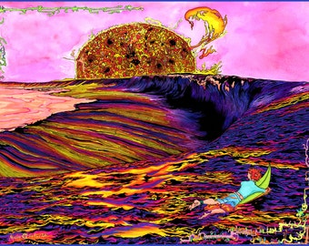 Teahupoo Sunset - Art by Masha Falkov - Print
