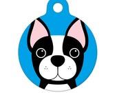 Pet ID Tag - Boston Terrier Pet Tag, Dog Tag