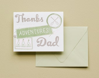 Letterpress Card - Fathers Day - Adventures