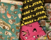 fabric bundle, star wars, alice in wonderland, minnie, family guy