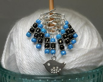 Little Bird Stitch Marker Set, Gift for Knitters, Snag Free Progress Keeper
