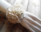 Ships in 5 days ~~~ Wrist Corsage, Sola Flowers, Rustic Country Wedding, Corsage.