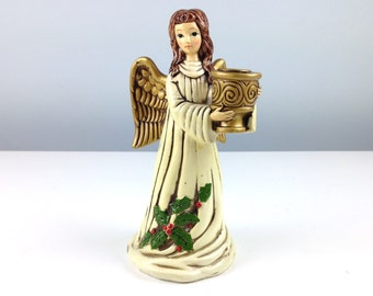 Vintage Angel Candle Holder, Made in Japan Figurines, Vintage Christmas Decorations, Christmas Candles, Candlestick Holders, Angel Figurine