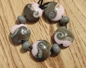 Perfectly pretty - lampwork bead set