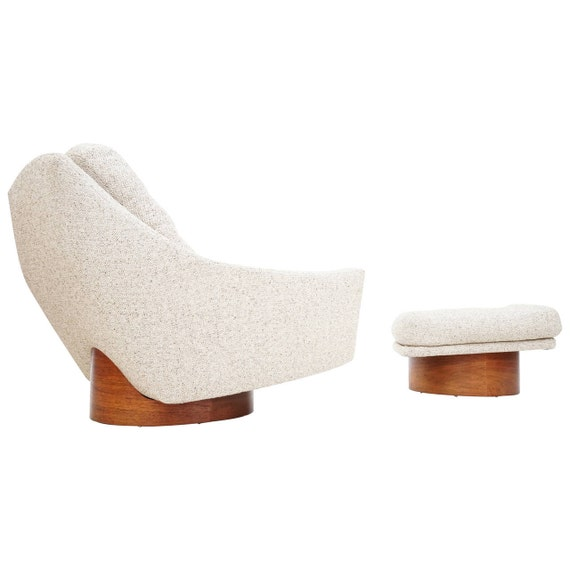 Oversized Floating Lounge Chair and Ottoman by Loft by rspritchard
