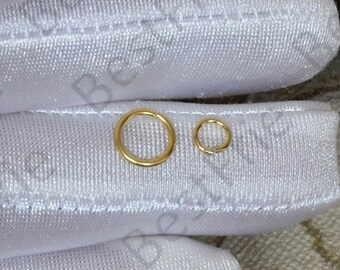 4mm,5mm,7mm,8mm 10pcs 24K Gold plated Brass Open Jump Rings,Jump Rings charm finding