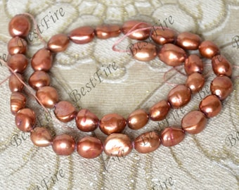 Rice Freshwater Cultured Pearl Gemstone Beads ,Real Pearl Freshwater Cultured pearl loose beads 14inch