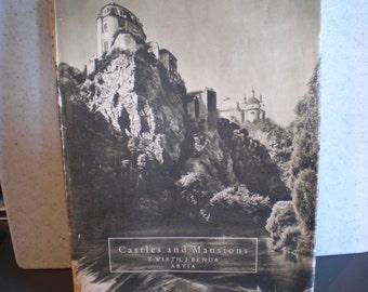 Vintage Mid Century Architecture Book - Castles & Mansions