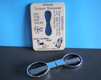 Mid Century Sewing Slip and Snip Sissors & Scissors Sharpener