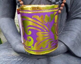 Balinese Traditional Sabuk Prada Trim Purple 9cm x 4meters