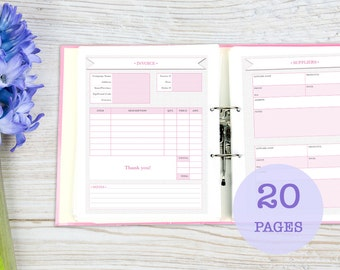 Comprehensive Business Planner, printable