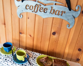 MCM Scroll Coffee Bar Sign