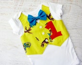 Curious George 1st Birthday Tuxedo Bodysuit with Matching Removable Bow Tie