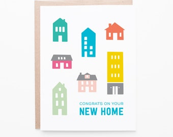 New Home Greeting Card | First Home Congratulations | Houses + Home Buying | Relator Thank You