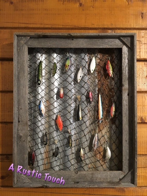 Fishing lure display case for Fishing lure decor