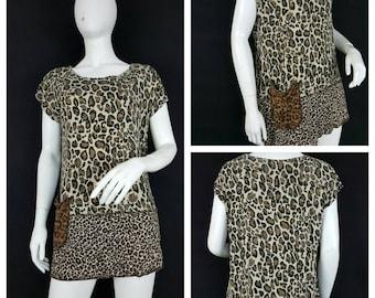 Animal print tunic upcycled by Niknok