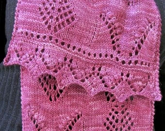 Knit Scarf Pattern:  Nelly Dell's Favorite Estonian Scarf Knitting Pattern