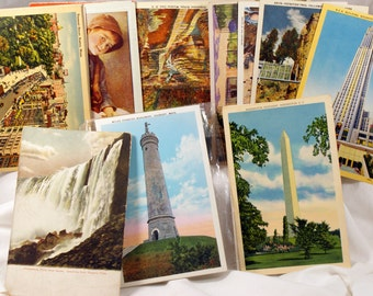 postcards lot of 24  linen and other postcards