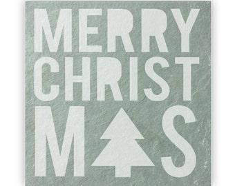 Tile - Large Slate 12in - 13867 Merry Christmas