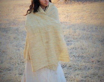 Handwoven traditional meghalaya raw silk shawl /fabric ~